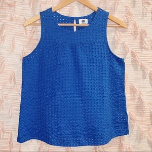 Old Navy Small Embroidered Blue Tank Top